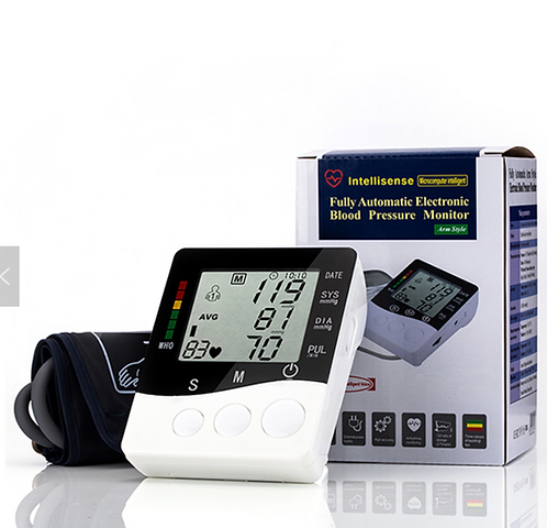 Upper arm Blood pressure monitor wit USB 240 volt power adapter