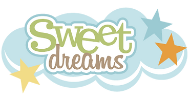 "Words ""sweet dreams"" on a cloud"