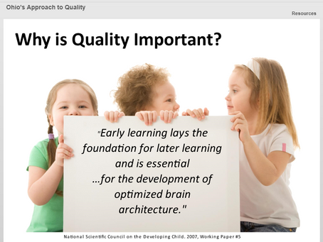 Advocating for High Quality Early Care and Education