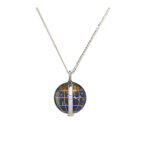 20mm globe with double cubic zirconia