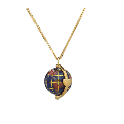 20mm globe with a heart