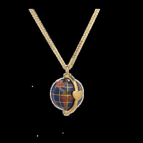 Mappamondo 20 mm simbolo cuore