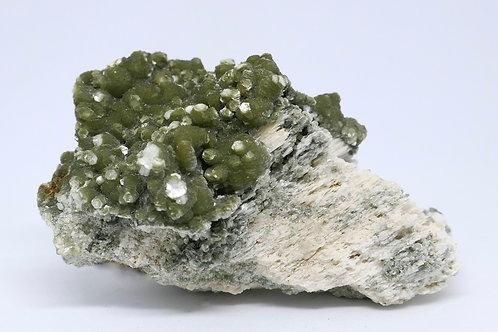 Green Muscovite on Feldspar