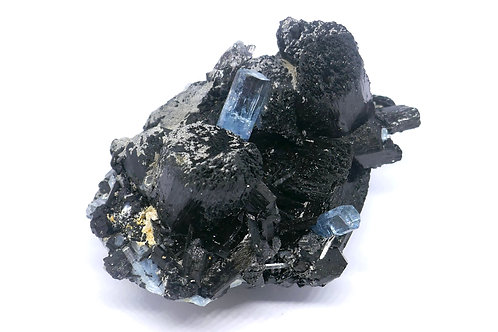 Schorl Tourmaline with Beryl var. Aquamarine