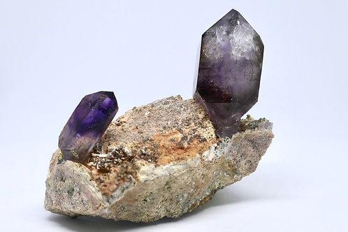 Amethyst Crystals on Matrix