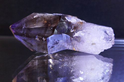 Quartz - Amethyst - a one-sided scepter