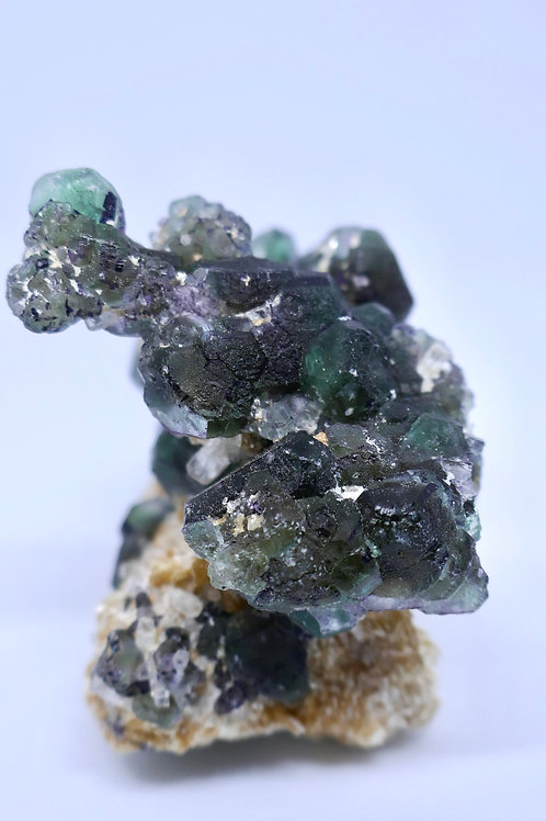 Fluorite and Beryl with Muscovite