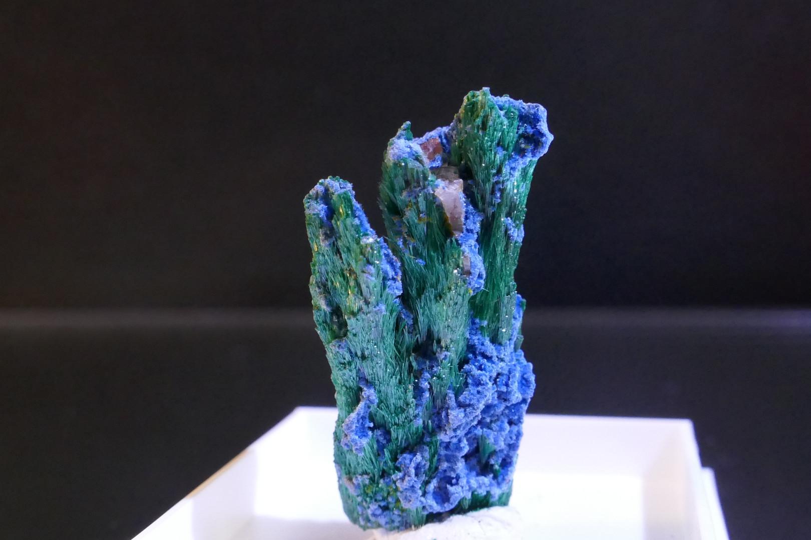 Malachite, Shattuckite, and Wulfunite