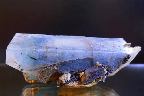 Beryl - Aquamarine Crystal with  Siderite and Orthoclase