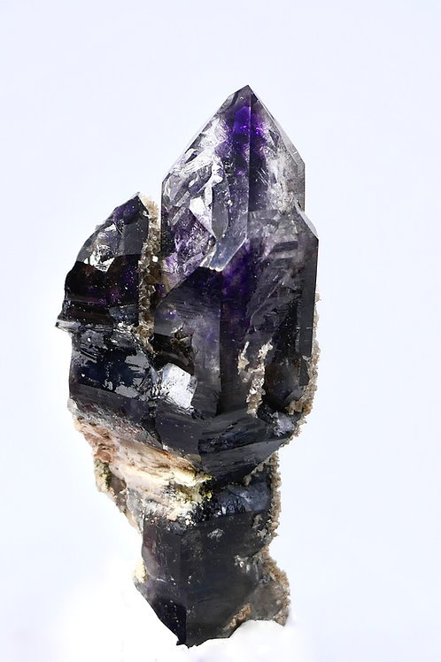 Double Quartz var. Amethyst Crystal