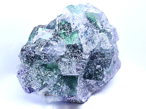 Spinel Fluorite on Feldspar, with Halite