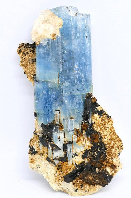 Beryl var. Aquamarine w/ Schorl and Siderite