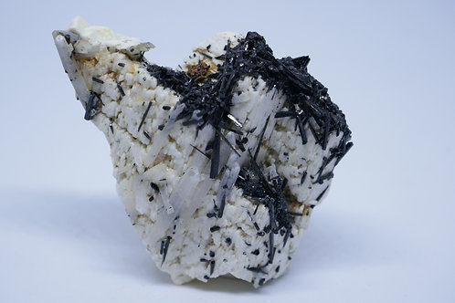 Quartz Crystals , Schorl Tourmaline, Siderite on Feldspar