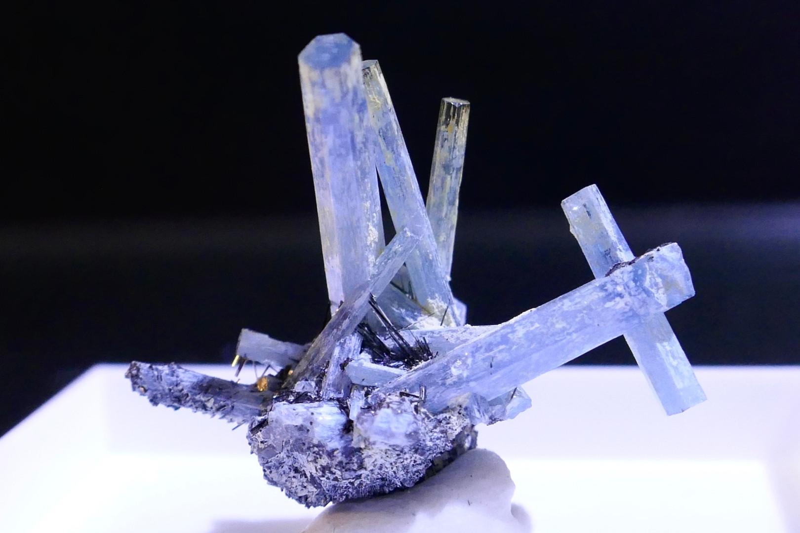 Beryl - Aquamarine with Schorl