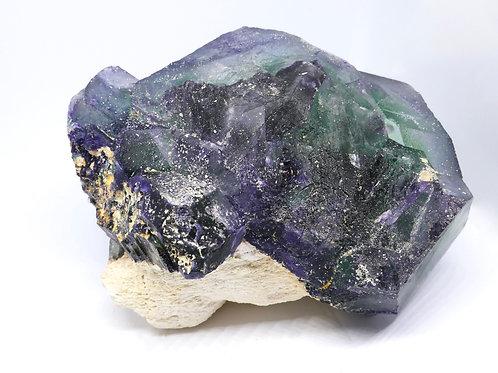 Green Fluorite on Matrix