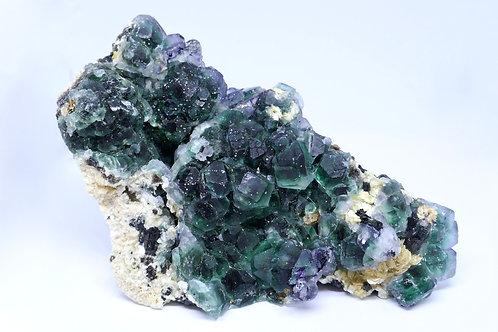 Green Fluorite & Spinel Fluorite