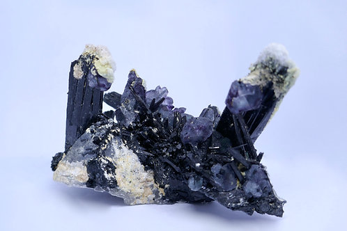 Spinel Fluorite, Schorl Tourmaline, and Halite