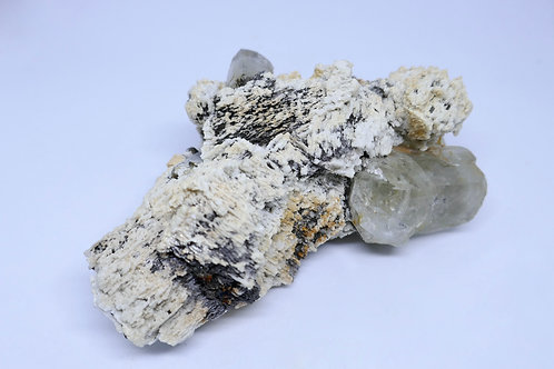Silver Topaz on Feldspar