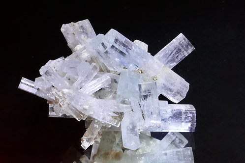 Cluster of Pale Beryl var. Aquamarine