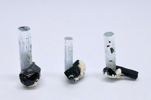 Set of 3 Aquamarine Crystals