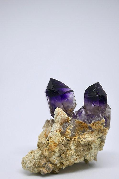 Twin Quartz var. Amethyst Crystal