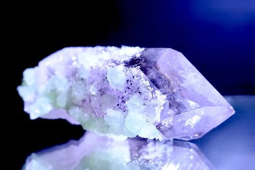 Amethyst Crystal with Prehnite