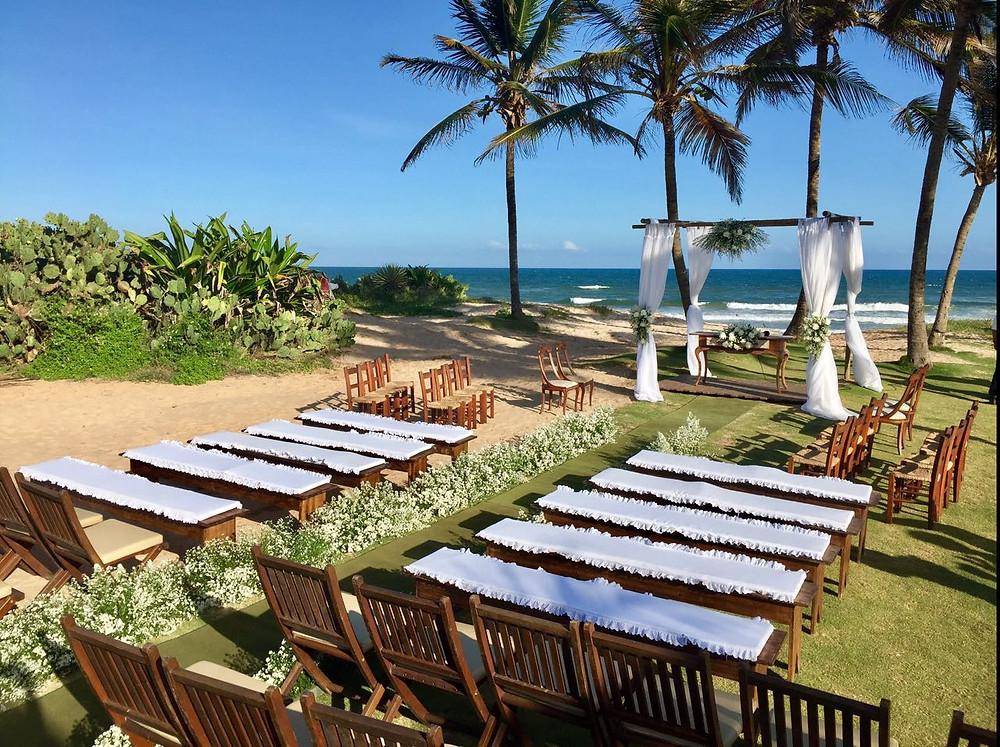 espaço para evento na praia