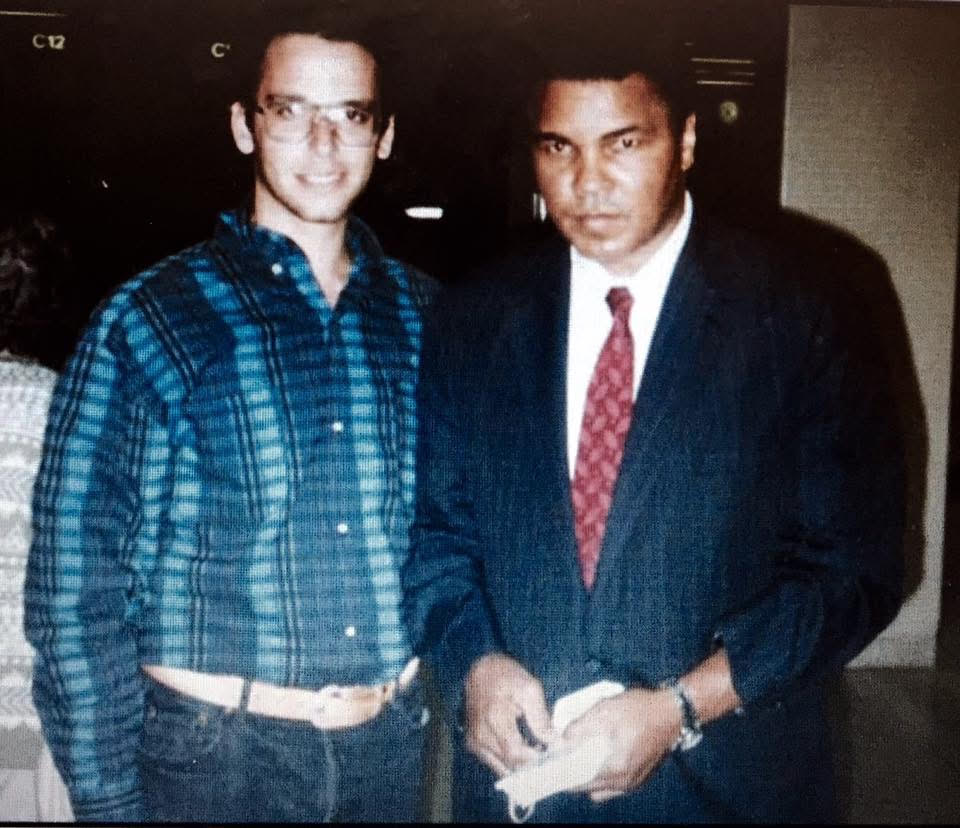 Ghil'ad Zuckermann and Muhammad Ali, Detroit, USA, 1993