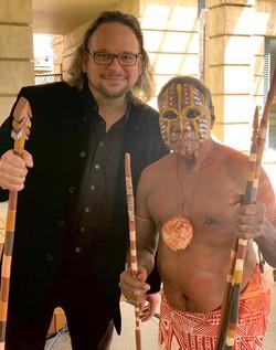 With Marius Puruntatameri, Tiwi Isla