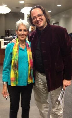 Professor Ghil'ad Zuckermann and Joan Baez, 2013