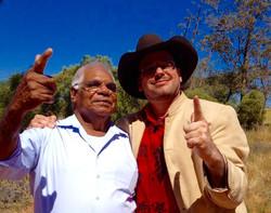 Professor Ghil'ad Zuckermann and Adnyamathanha man Robert Wilton, Port Augusta, Eyre Peninsula, Sout