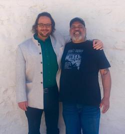Professor Ghil'ad Zuckermann and Barngarla man Stephen Atkinson, South Australia
