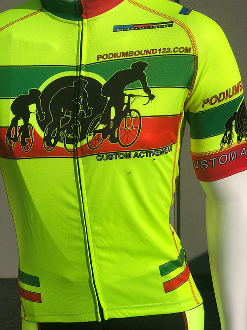 Bike/Cycling: High Visibility Full Cycling Combo Kit with arm sleeves