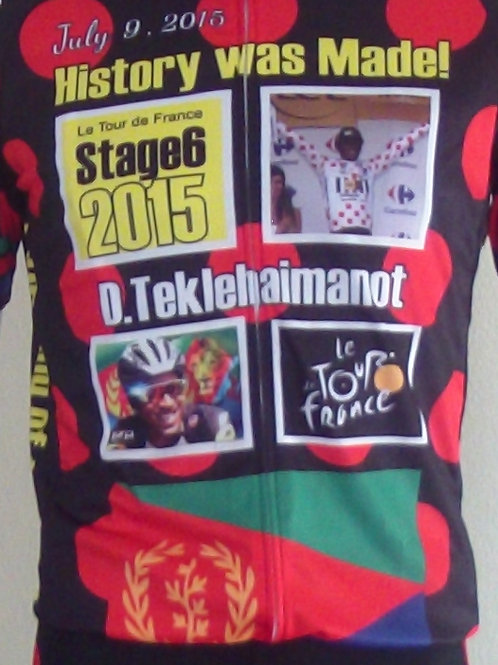 """Bike/Cycling: Jersey Only: 1st BLACK AFRICAN"""" on TDF Podium"""