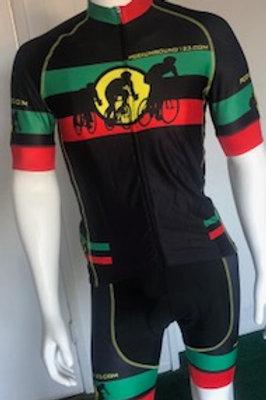 Bike/Cycling: Black/Red/Green Cycling Kit