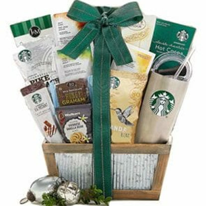 starbucks inspired basket