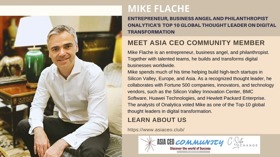 Entrepreneur, Business Angel and Philanthropist, Onalytica's Top 10 Global Thought Leader