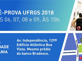 PRÉ-PROVA UFRGS 2018: CONFIRA AS DATAS E OS HORÁRIOS DA PREPARAÇÃO FINAL PARA O VESTIBULAR.