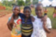 Glade barn på skoleavslutning senter 2, Uganda