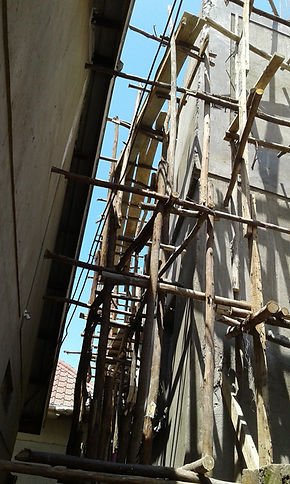 Senter 1 - 2. etasje - stillasje mai 20.