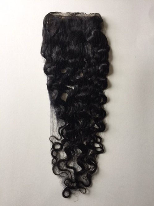 "14"" Silk Closure Natural Color Wavy"