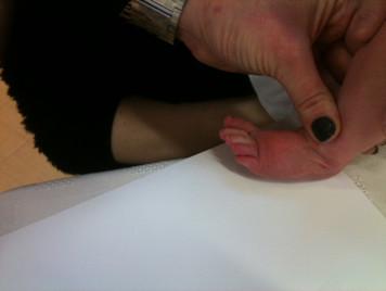 Footprint jewellery...tiny toes!