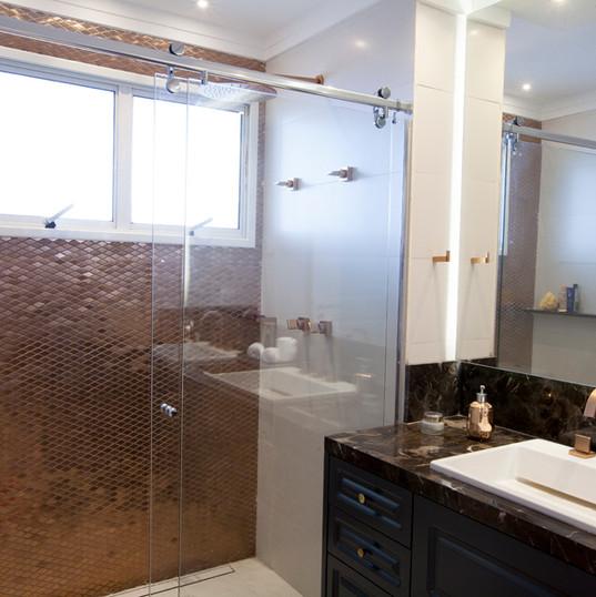 Banheiro Clean - Design de Interiores - Varanda Apartamento Cobertura MR