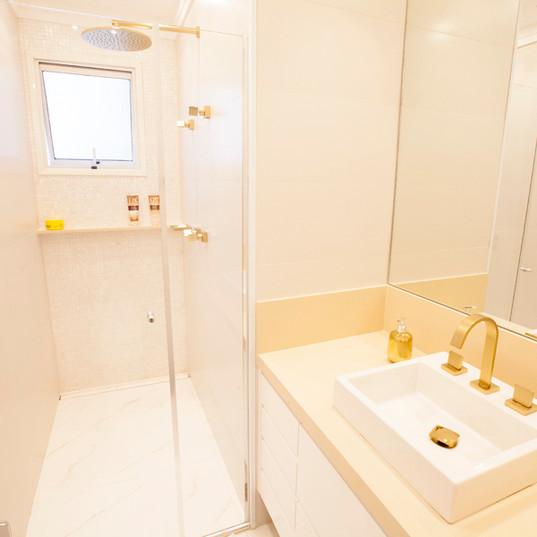 Banheiro Clean - Design de Interiores - Varanda Apartamento Cobertura MG