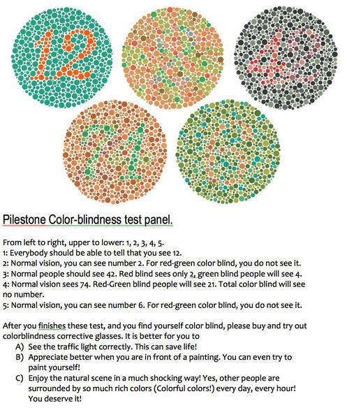 2bdc3369ed5 TP-004 Pilestone® Color Blind Clip On lenses for Red Green ...