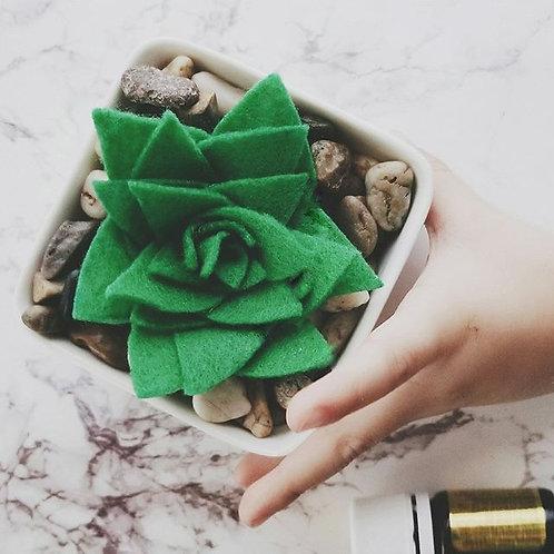 Mini Felt Succulent Kit