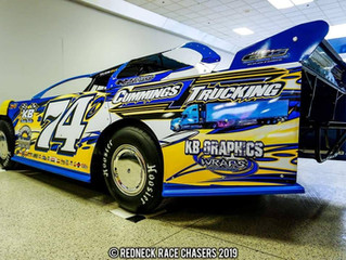 Cummings Trucking Crate Late Models Ready to 'Haul The Mail' At Woodhull In 2019