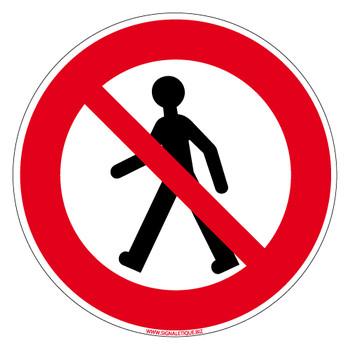 Panneau d'interdiction piéton