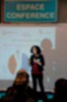 Photo de Christelle Festin en conférence
