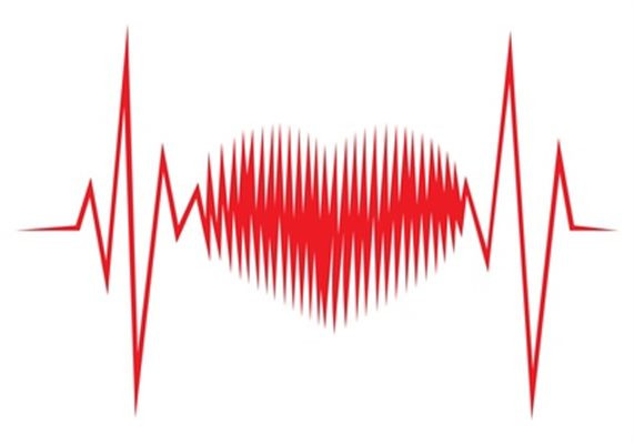 Photo d'un rythme cardiaque formant un cœur